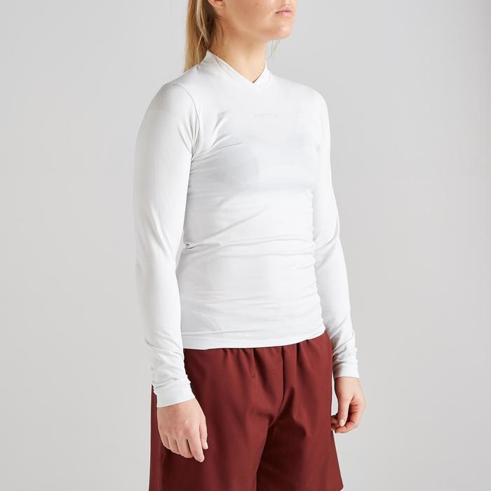 Funktionsshirt langarm Keepdry 500 atmungsaktiv Damen weiß