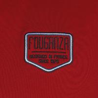 Ilgarankoviai polo marškinėliai jojimui su antsiuvu – raudoni