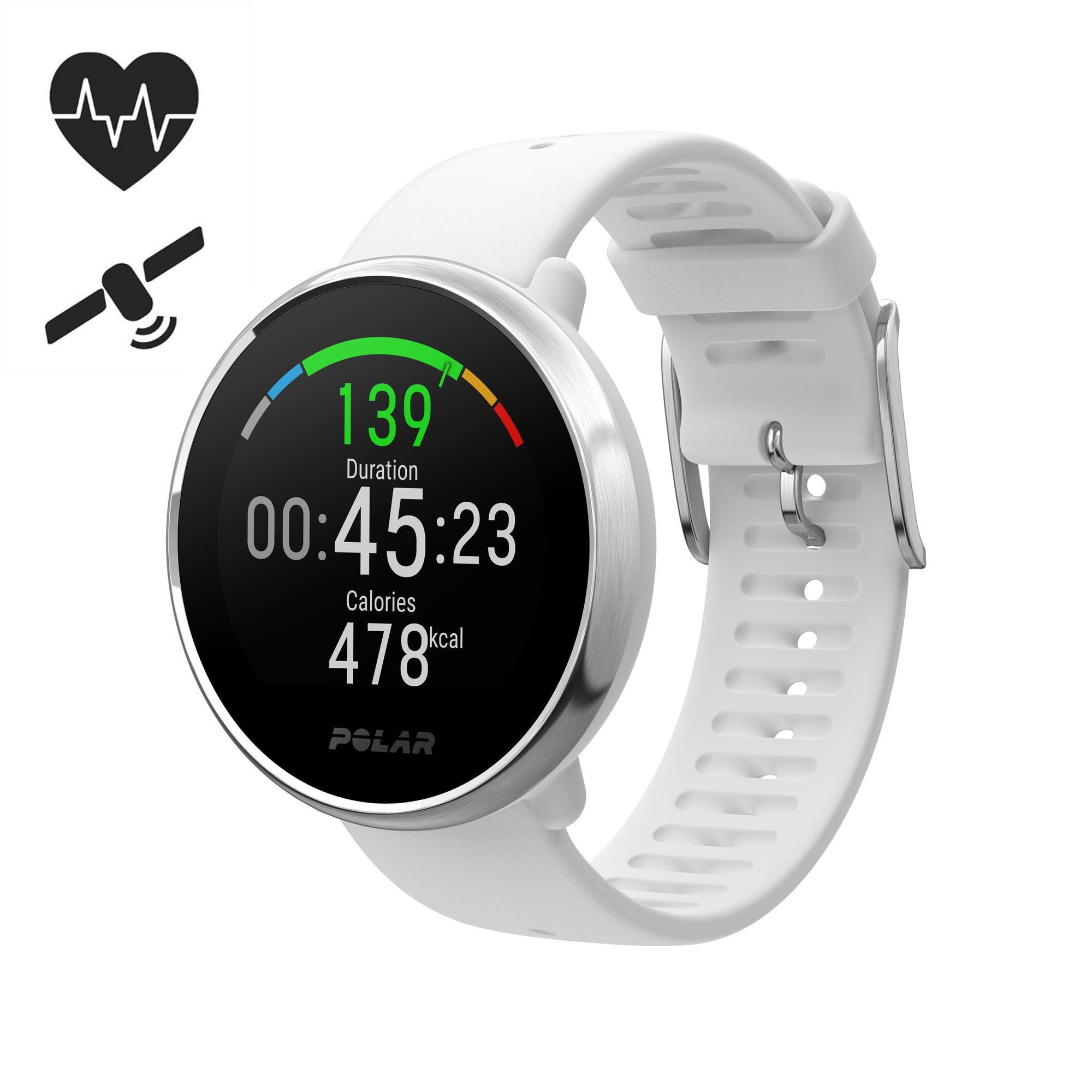sur des coups de pieds de mieux nouveau design Montre GPS avec cardio au poignet IGNITE blanche