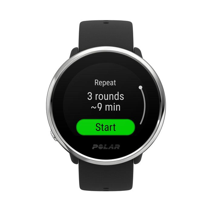 GPS-Uhr wasserdicht mit Pulsmessung am Handgelenk Ignite schwarz