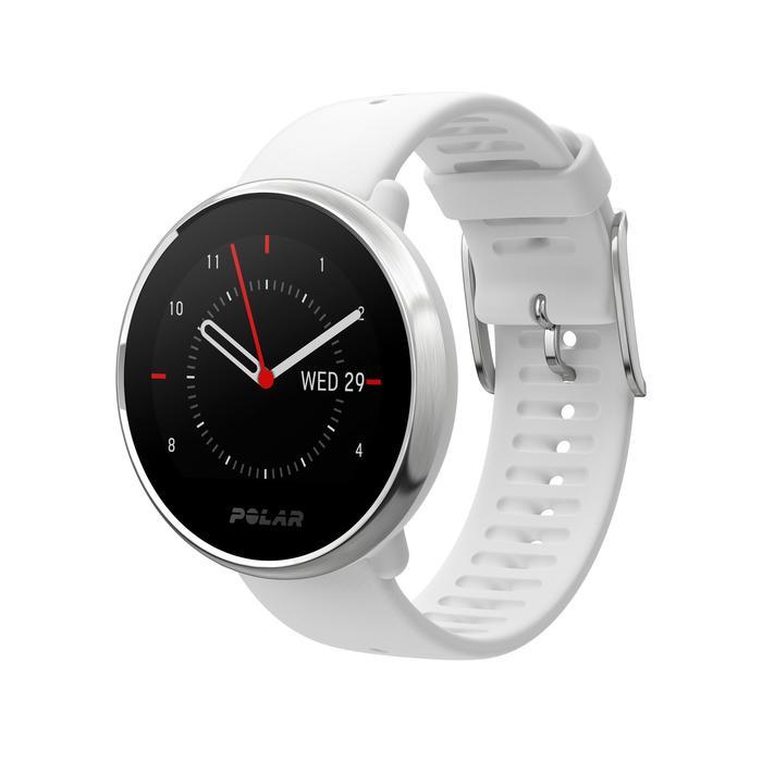 Gps-horloge met hartslagmeter aan de pols Ignite wit