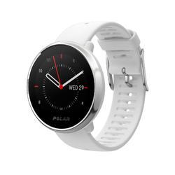 Gps-horloge met hartslagmeter aan de pols wit M/L