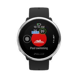 Gps-horloge met hartslagmeter aan de pols Ignite zwart