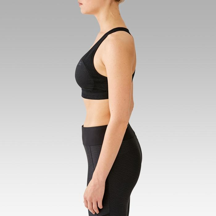 CLASSIC PADDED RUNNING CROP TOP - BLACK