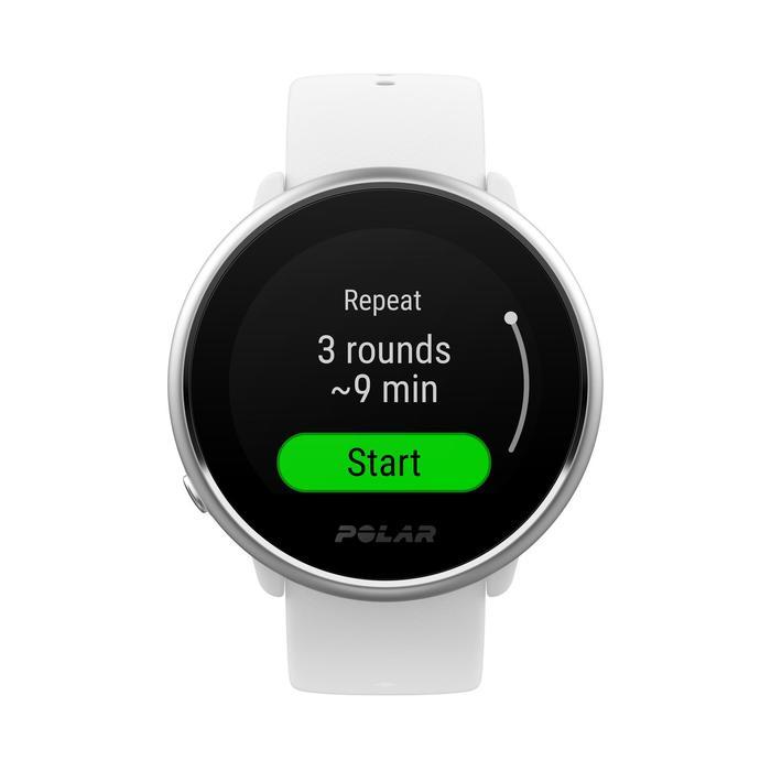 GPS-Uhr wasserdicht mit Pulsmessung am Handgelenk Ignite weiß