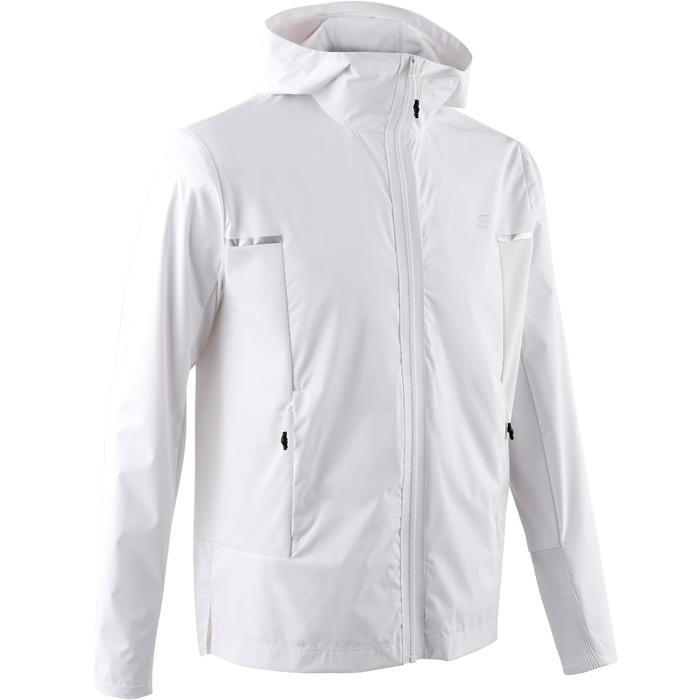 Men's Jogging Wind and Rain Jacket Run Rain Breath - white