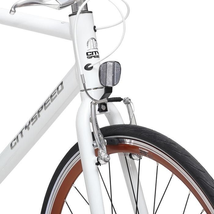 City Bike 28 Zoll City Speed Nexus 3 weiß