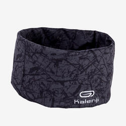 MULTIPURPOSE RUNNING HEADBAND -  CARBON GREY/BLACK PRINT