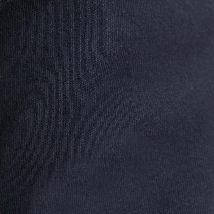 Herenpolo lange mouwen ruitersport Blason marineblauw
