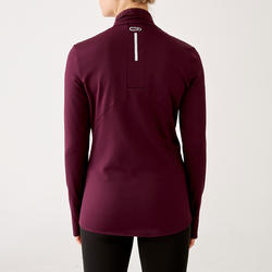 MAILLOT MANCHES LONGUES FEMME COURSE CHAUD PRUNE