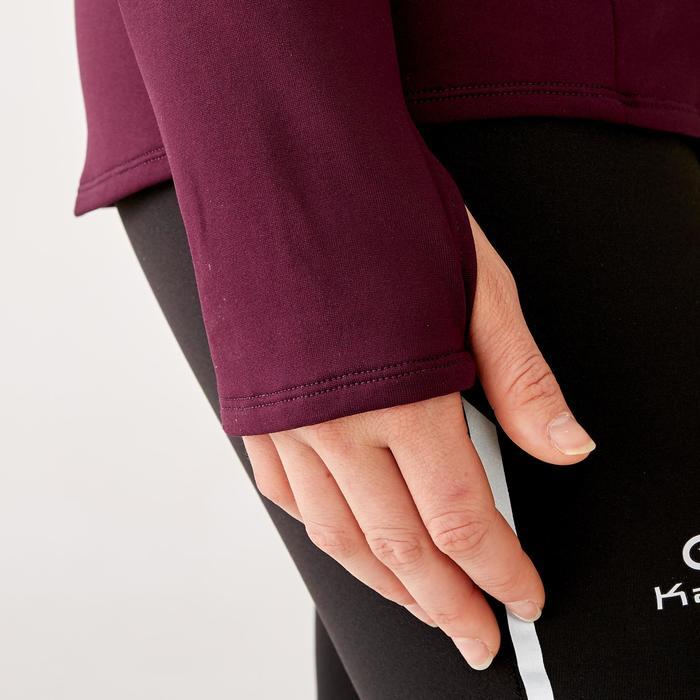 女款慢跑長袖運動衫Run Warm - 紫紅色