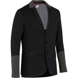 COMP100 騎馬競賽夾克 - 黑色/灰色 有袖