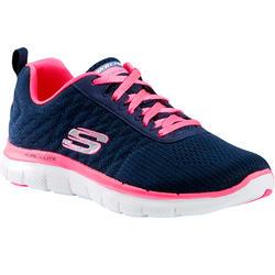 Damessneakers voor sportief wandelen Flex Appeal blauw/roze