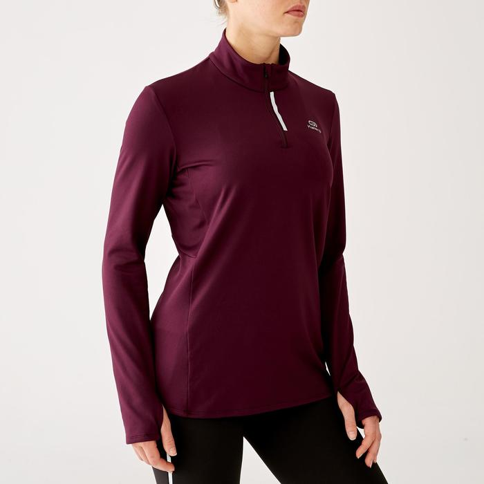 MAILLOT MANCHES LONGUES JOGGING FEMME RUN WARM PRUNE