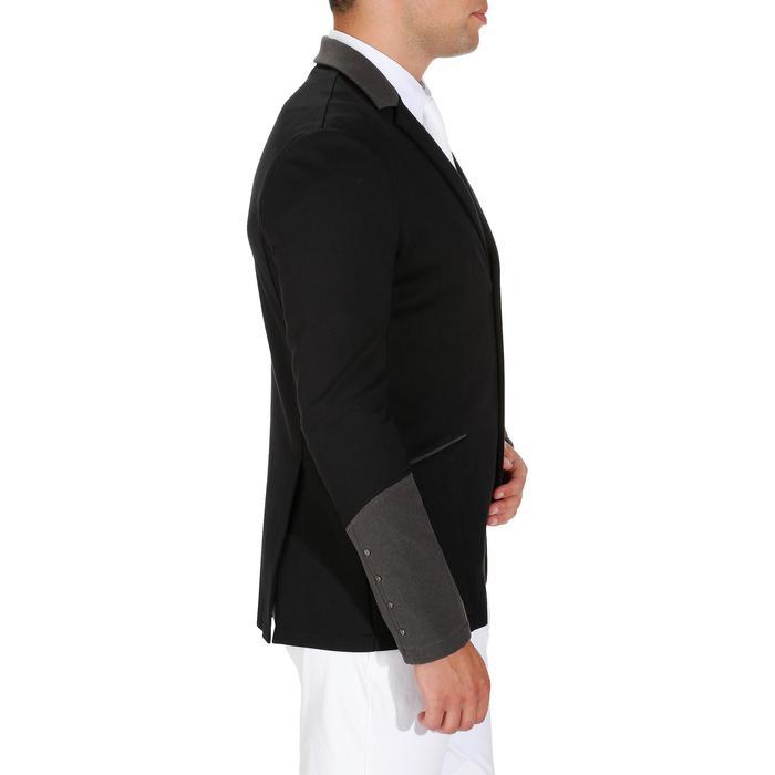 Veste de Concours équitation homme COMP100 noir et manches grises - 172886