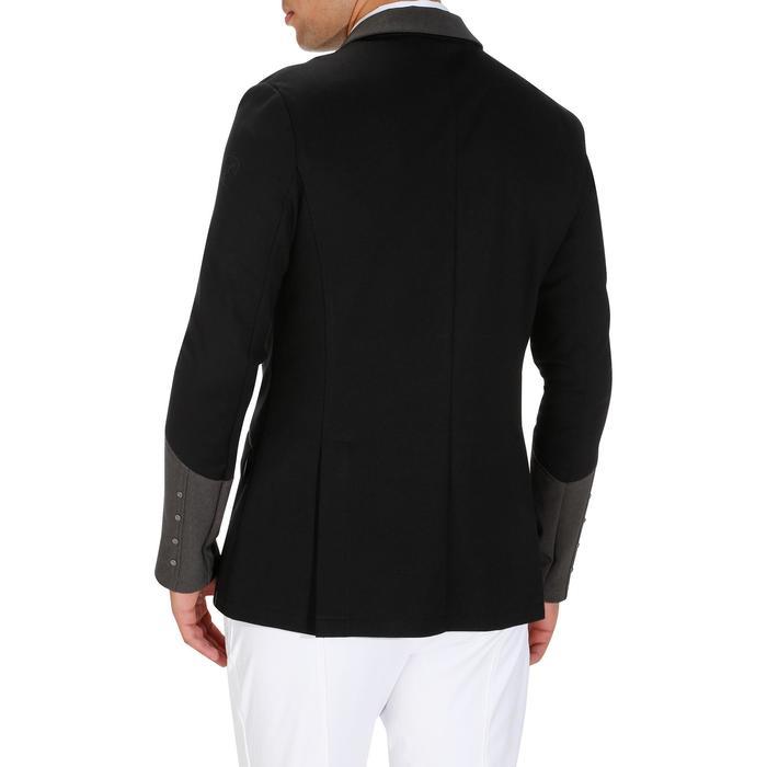 Veste de Concours équitation homme COMP100 noir et manches grises - 172887