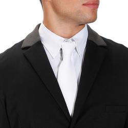 Wedstrijdjasje Paddock voor heren ruitersport zwart en grijs - 172888