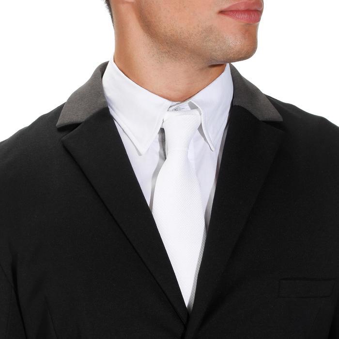 Veste de Concours équitation homme COMP100 noir et manches grises - 172888