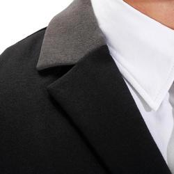 Wedstrijdjasje Paddock voor heren ruitersport zwart en grijs - 172890