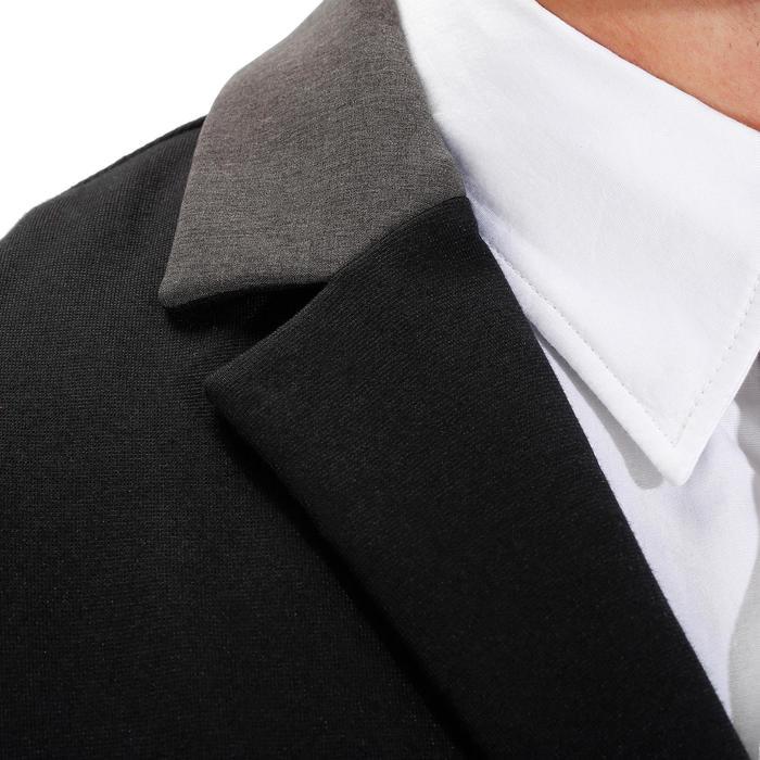 Wedstrijdjasje Comp100 voor heren ruitersport zwart met grijze mouwen