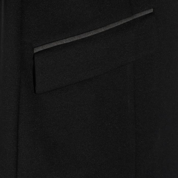 Veste de Concours équitation homme COMP100 noir et manches grises - 172891
