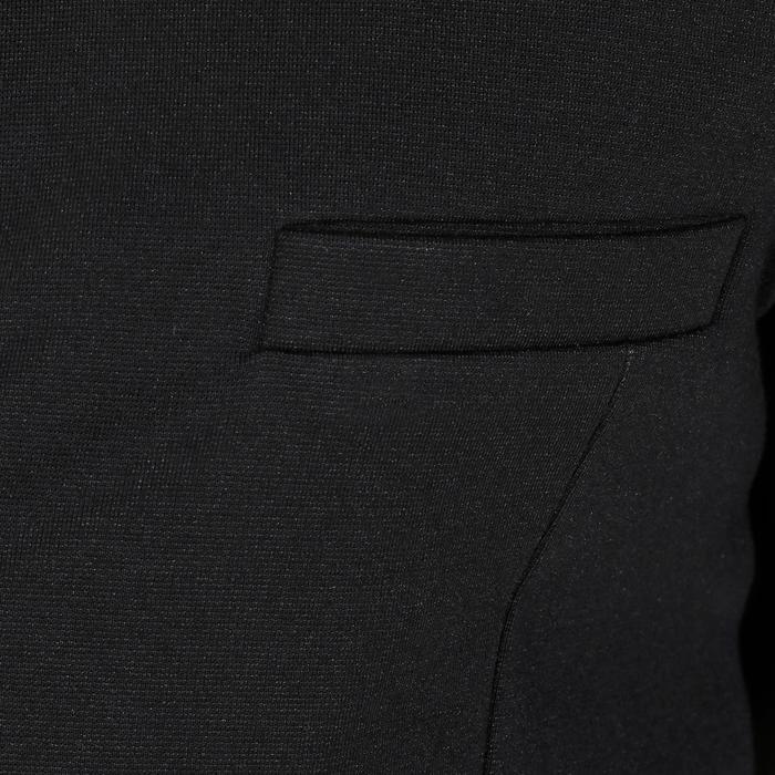 Veste de Concours équitation homme COMP100 noir et manches grises - 172894
