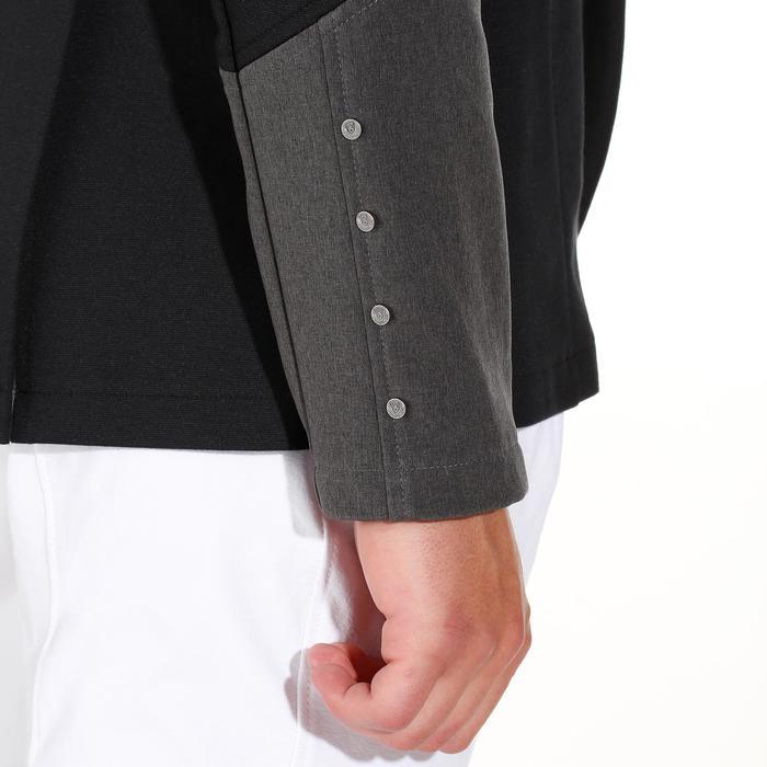 Veste de Concours équitation homme COMP100 noir et manches grises - 172895