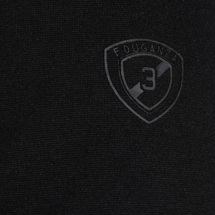 Veste de Concours équitation homme COMP100 noir et manches grises - 172896
