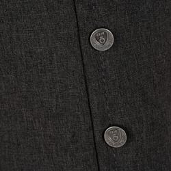 Wedstrijdjasje Paddock voor heren ruitersport zwart en grijs - 172897
