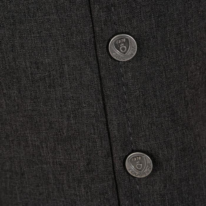 Veste de Concours équitation homme COMP100 noir et manches grises - 172897