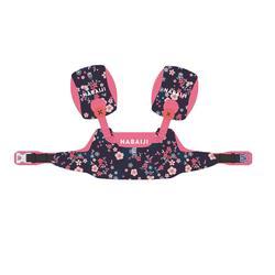 Armbandjes + zwemband zwemhulp voor kinderen TISWIM blauw met bloemenprint