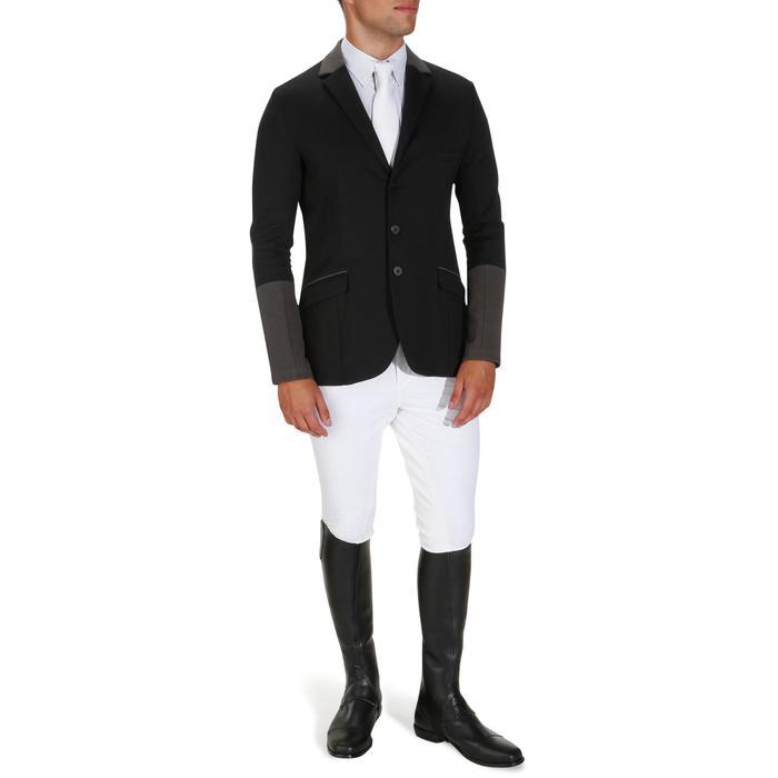 Veste de Concours équitation homme COMP100 noir et manches grises - 172898