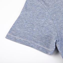 女款標準剪裁溫和健身與皮拉提斯T恤500 - 藍色