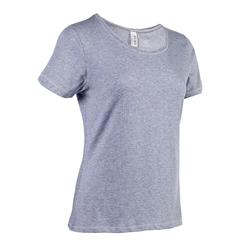 500 Women's Regular-Fit Pilates & Gentle Gym T-Shirt - Blue