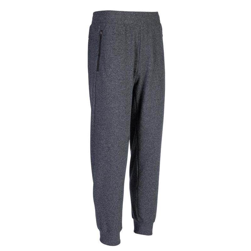 Pantalon jogging Fitness Poche Zippées Gris Foncé
