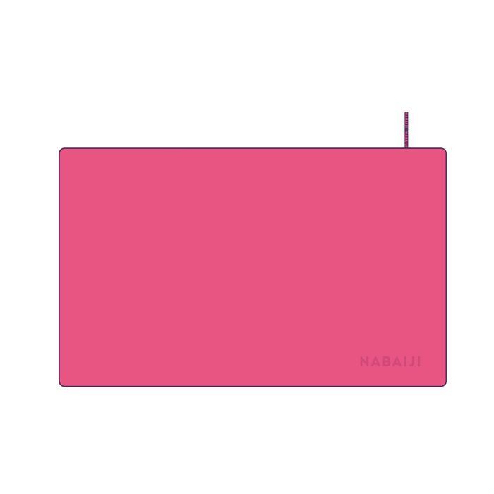輕巧微纖維毛巾L號80 x 130 cm 粉紅色