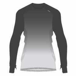 男款跑步長袖T恤KIPRUN CARE - 灰色