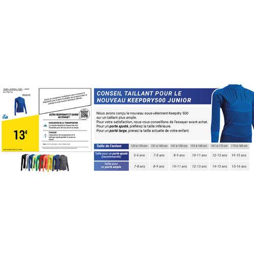 100% autentic pantofi casual preturi ieftine Bluză fotbal Keepdry 500 Albastru Copii KIPSTA - Decathlon.ro
