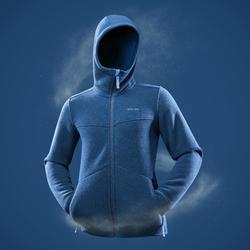 Veste polaire de randonnée neige homme SH100 ultra-warm bleue