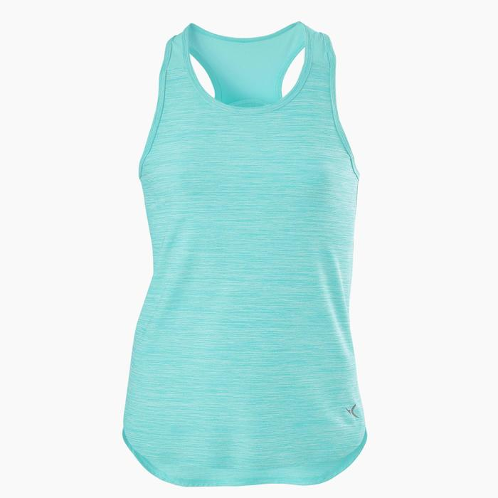 Ademend synthetisch gymtopje voor meisjes S500 blauw