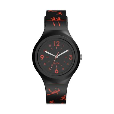 KIDS' SPORT ANALOGUE WATCH A300S - BLACK