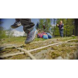 Chaussures de randonnée montagne basses avec lacet garçon Crossrock bleues 35-38