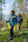 PILE PIUMINI BAMBINO 7-15 A Sport di Montagna - Piumino bambino MH 500 blu QUECHUA - Trekking bambino