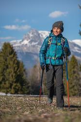 Jaket Hiking Empuk Anak 7-15 Tahun MH500 - Green Print
