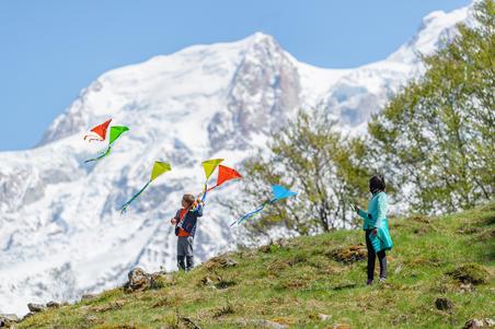 Polaire de randonnée enfant MH100 turquoise 7-15 ans