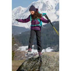 Pantalon de randonnée - MH500 noir - enfant 7- 15 ans