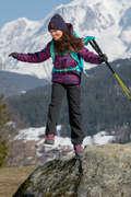 PILE E SOFTSHELL BAMBINA 7-15 ANNI Sport di Montagna - Pantaloni bambina 7-15 anni MH550 neri QUECHUA - Sport di Montagna