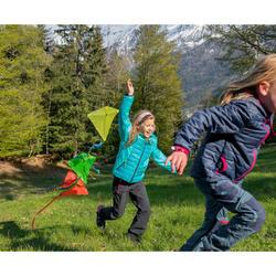 Gewatteerde kinderjas MH500 turquoise/print 7-15 jaar