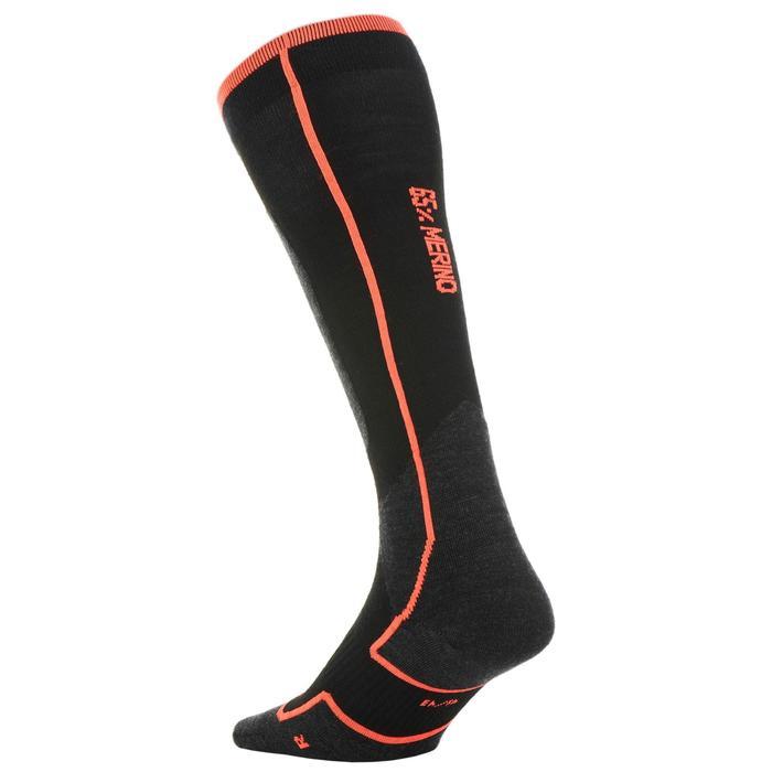 成人滑雪襪900 - 黑色