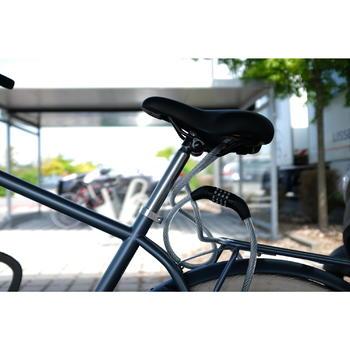 Fahrradschloss für Zubehör Kabelschloss 120 Code grau